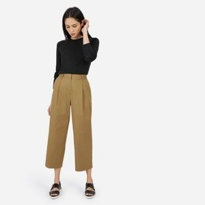 EVERLANE Twill crop Wide leg pants